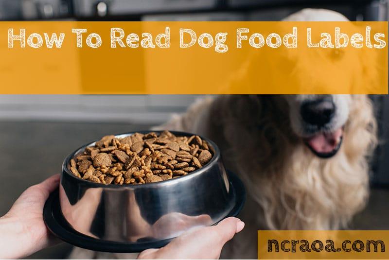 dog food labels
