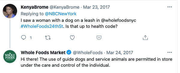 whole foods nyc dog policy